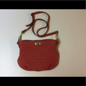 J Crew Quilted Leather Crossbody Purse
